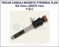 Trocar cannula magnetic pyramidal plain