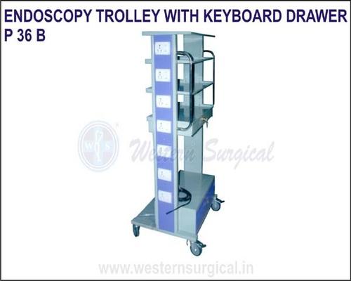 Endoscopy Trolley with keyboard Drawer