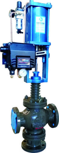 Three Way Control Valves with Positioner