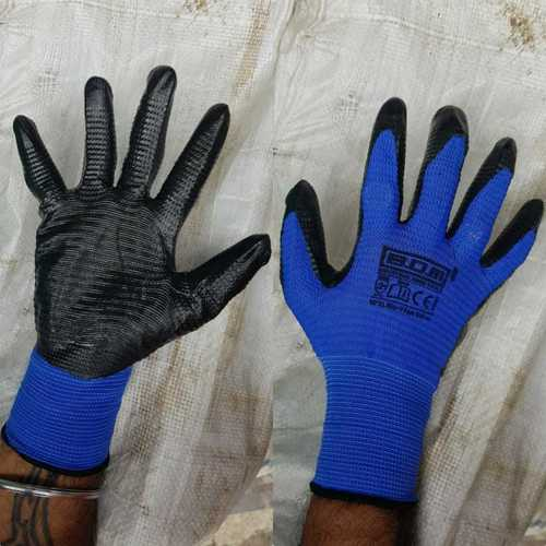 blue black cut resistance gloves