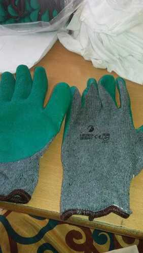 F LOGO GREEN GREY CUT RESISTANCE GLOVES