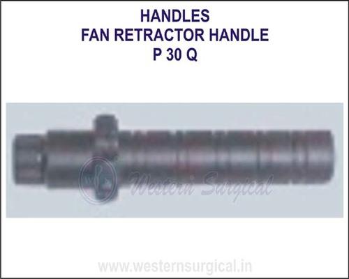 Fan retractor handle