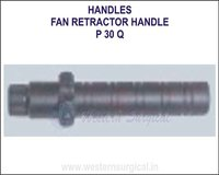 Fan retractor handle