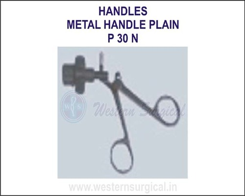Metal handle plain