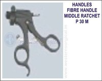 Fibre handle middle ratchet