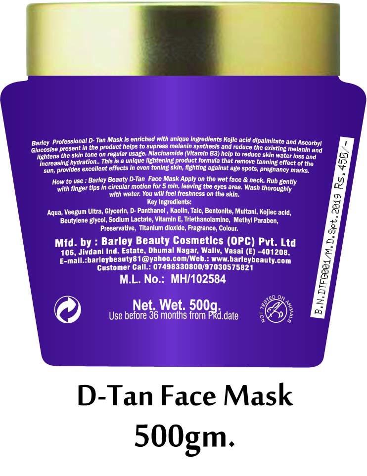 Barley D-Tan Face Mask