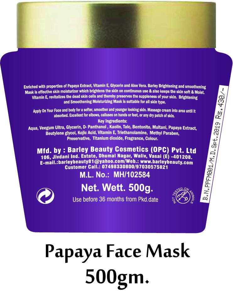 Barley Papaya Face Mask
