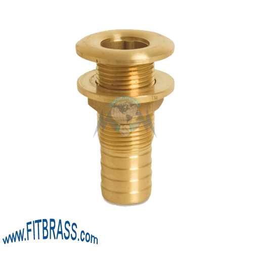 Brass Bulkhead Tank Fittings With Hose Tail