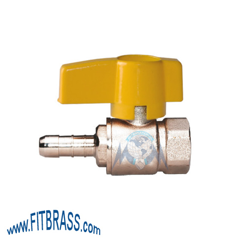 GAS BALL VALVE WITH NOZZLE