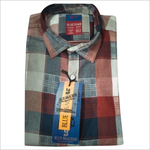 Mens Party Wear Check Shirt