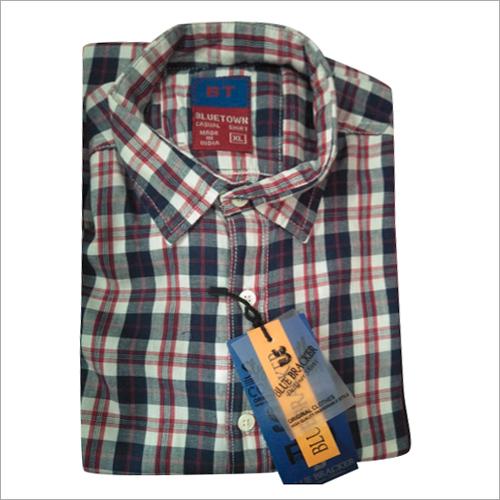 Mens Check Full Sleeve Shirt