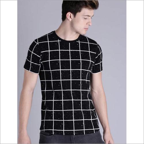 Mens Check T-Shirt