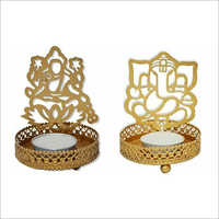 Laxami And Ganesha Candle Stand