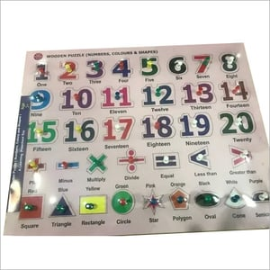 Wooden Puzzle Number Color & Shapes