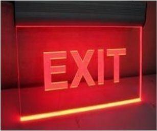 LED EDGE LIGHT EXIT SIGNAGE AC ONLY
