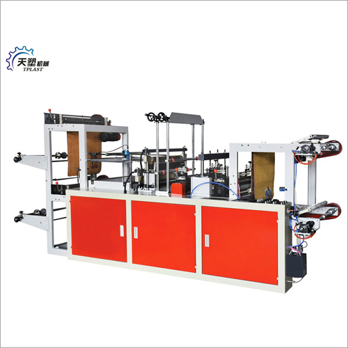 Computer Control High Speed Continuous Rolling Vest Bag Making Machine