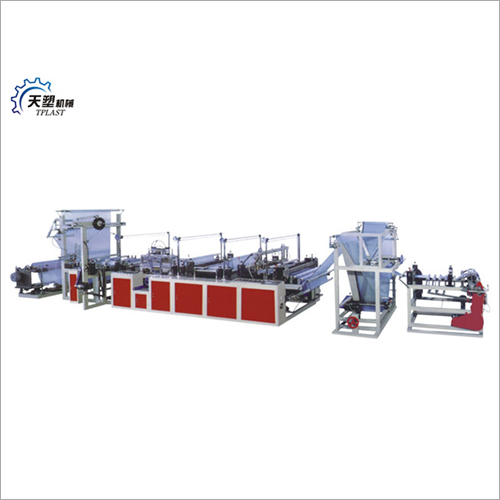 Computer Control Ribbon Throught Garbage Bag Making Machine