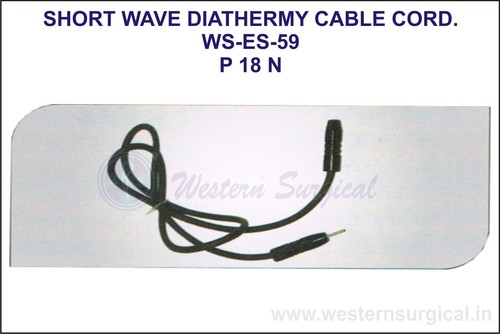 Short Wave Diathermy Cable Cord