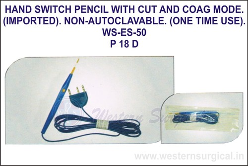 Hand Switch Pencil With Cut and Coag Mode (Imported) Non-Autoclavable(One Time Use)