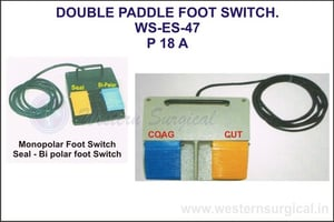 Double Paddle Foot Switch