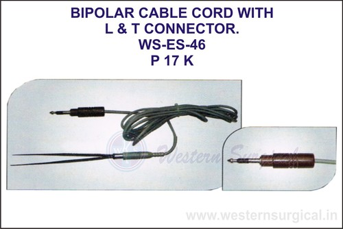 Bipolar Cable Cord With L & T Connector