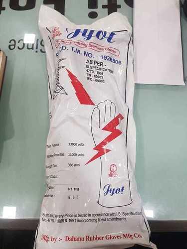 Jyot Make 33 kv  Electrical Rubber Hand Gloves