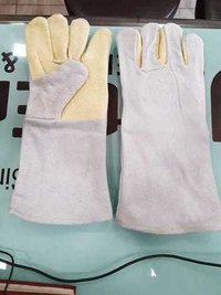 Palm kevlar leather hand gloves