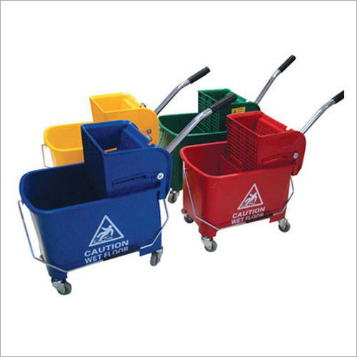 Plastic And FRP Mopping Trolley3