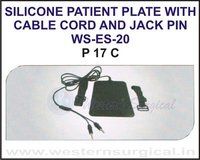 Silicone Patient Plate With Cable Cord and Jack Pin