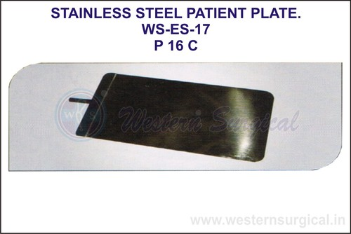 Stainless Steel Patient Plate