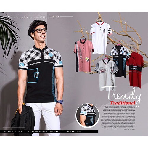 Chinese Collar T-Shirt