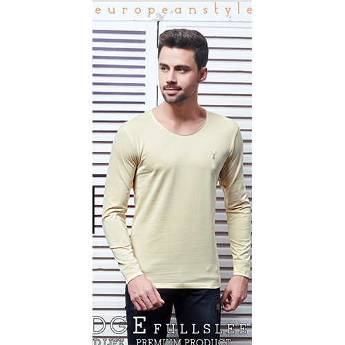Mens Stylish Plain Fullsleeve T-Shirt