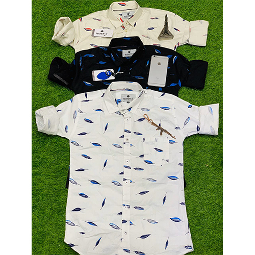 Mens Feather Printed Shirt