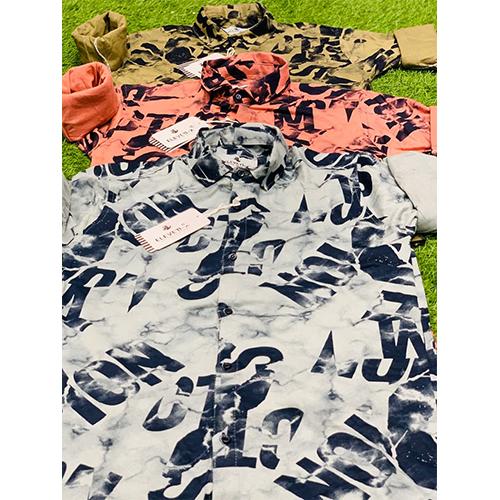 Mens Text Printed Shirt