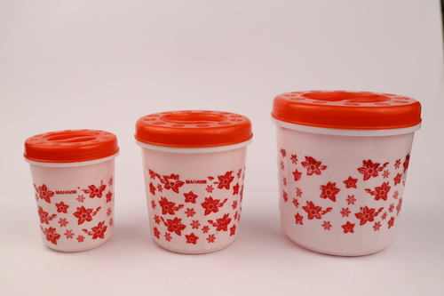 Plastic Cozy 3 Pcs Container/ Jar