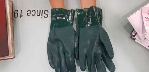 "Green pvc 10"",12"",14"" Hand gloves"