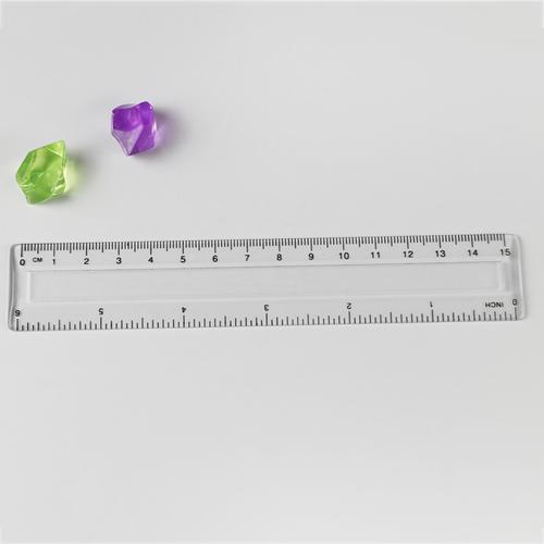 6AcA A  English And Metric Plastics Concave Ruler