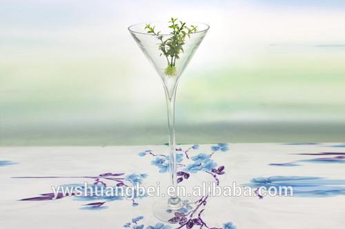 Tall Stemmed Martini Glass Vase Wine Shaped Glass Vase