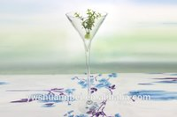Tall Stemmed Martini Glass Vase Wine Shaped Glass Vase