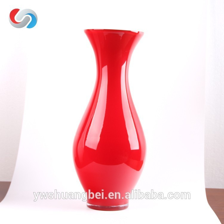 Promotion Hand Blown High Quality Colored Glass Vases