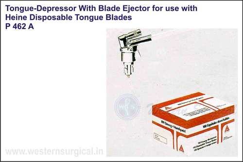 Tongue Depressor With Blades Ejector For Use With Heine Disposable Tongue Blades