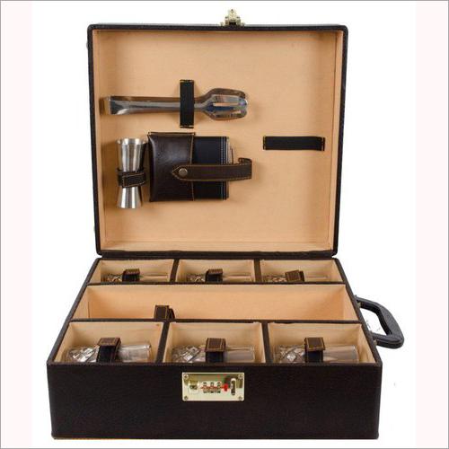 Designer Leather Bar Box Set