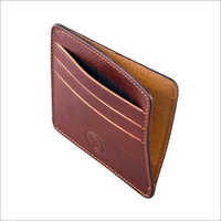 Plain Leather Card Holder