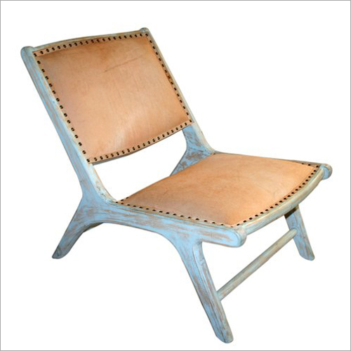 Designer Wooden Leather Chair