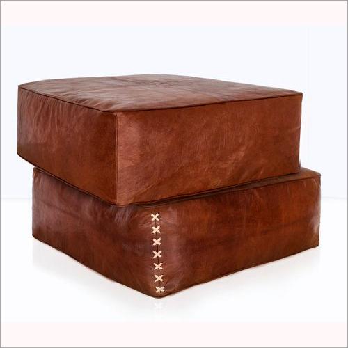 Leather Poufs