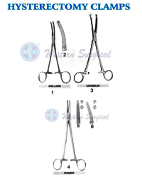 Hysterectomy clamps