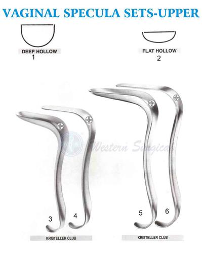 Vaginal specula sets - Upper