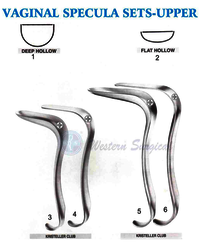 Vaginal specula sets - Upper