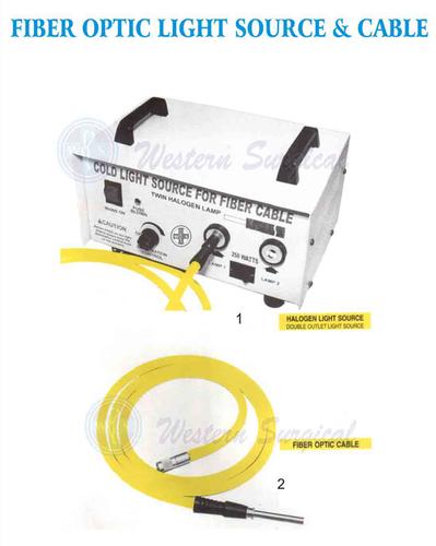 Fiber optic light source & cable