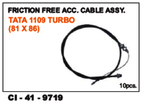Friction Free Acc Cable Assy Tata 1109 Turbo